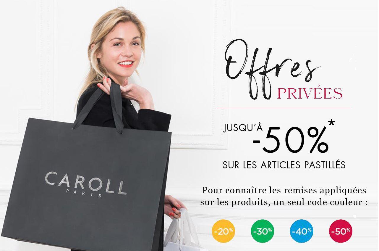 Code promo Caroll : [Offres privées] Jusqu'à -50% sur les articles signalés