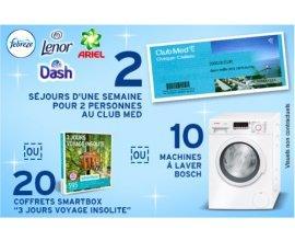 Intermarché:  2 séjours Club Med, 10 lave-linge Bosch et 20 Smartbox à gagner