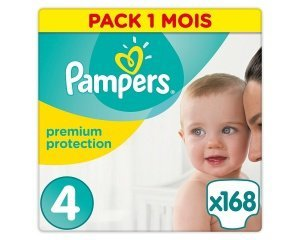 couches pampers premium protection taille 4 8 16 kg en. Black Bedroom Furniture Sets. Home Design Ideas