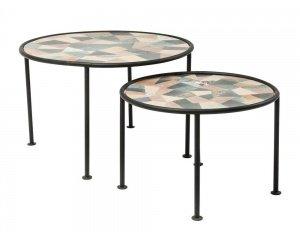 set de 2 tables basses coccio au prix de 418 04 au lieu de 598 04 delamaison. Black Bedroom Furniture Sets. Home Design Ideas