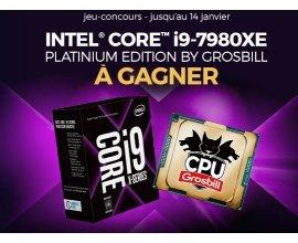 GrosBill: 1 processeur Intel Core i9-7980XE Platinium édition à gagner