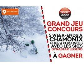 Sport2000: 5 week-end à Chamonix pour 4 personnes à gagner