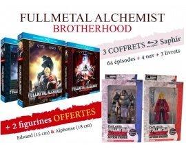 Anime Store: Coffret Blu-ray Fullmetal Alchemist : Brotherhood - Intégrale + 2 figurines à 49,95€