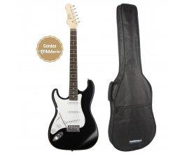 Woodbrass: Guitare électrique Eagletone Sun State LH noir pour gaucher + EGB10 à 85€ au lieu de 127€