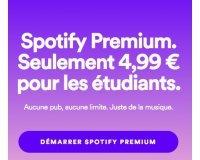Spotify: [Offre étudiante] Spotify Premium pour seulement 4,99€