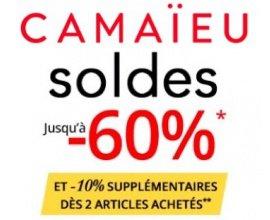 Camaïeu: [Soldes] Jusqu'à -60% sur une sélection de produits