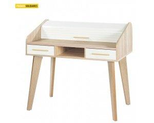bureau en ch ne made in france simmob avec 2 tiroirs en soldes 254 au lieu de 279 camif. Black Bedroom Furniture Sets. Home Design Ideas