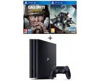 Cdiscount: Pack PS4 Pro 1To + Qui-es-tu ? + Call of duty World War II + Destiny 2 à 409,99€
