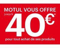Motul: Achetez au moins 2 articles pour entretenir votre moteur et faites vous rembourser jusqu'à 40€
