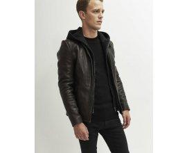IKKS: Soldes Blouson cuir noir IKKS à 287.50€ au lieu de 575€