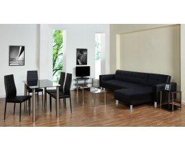 PriceMinister: Salon complet design et convertible 9 pièces Swing noir à 499€ au lieu de 999€