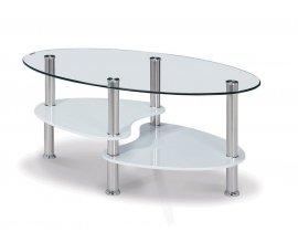 PriceMinister: Table basse blanche en verre trempé à 39€ au lieu de 99€