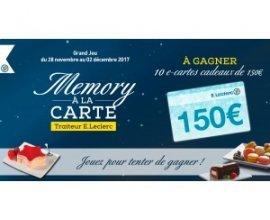 E-Leclerc: 10 cartes cadeaux Leclerc de 150€ à gagner