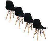 eBay: Lot de 4 chaise déco design noir à 79,99€ livraison comprise