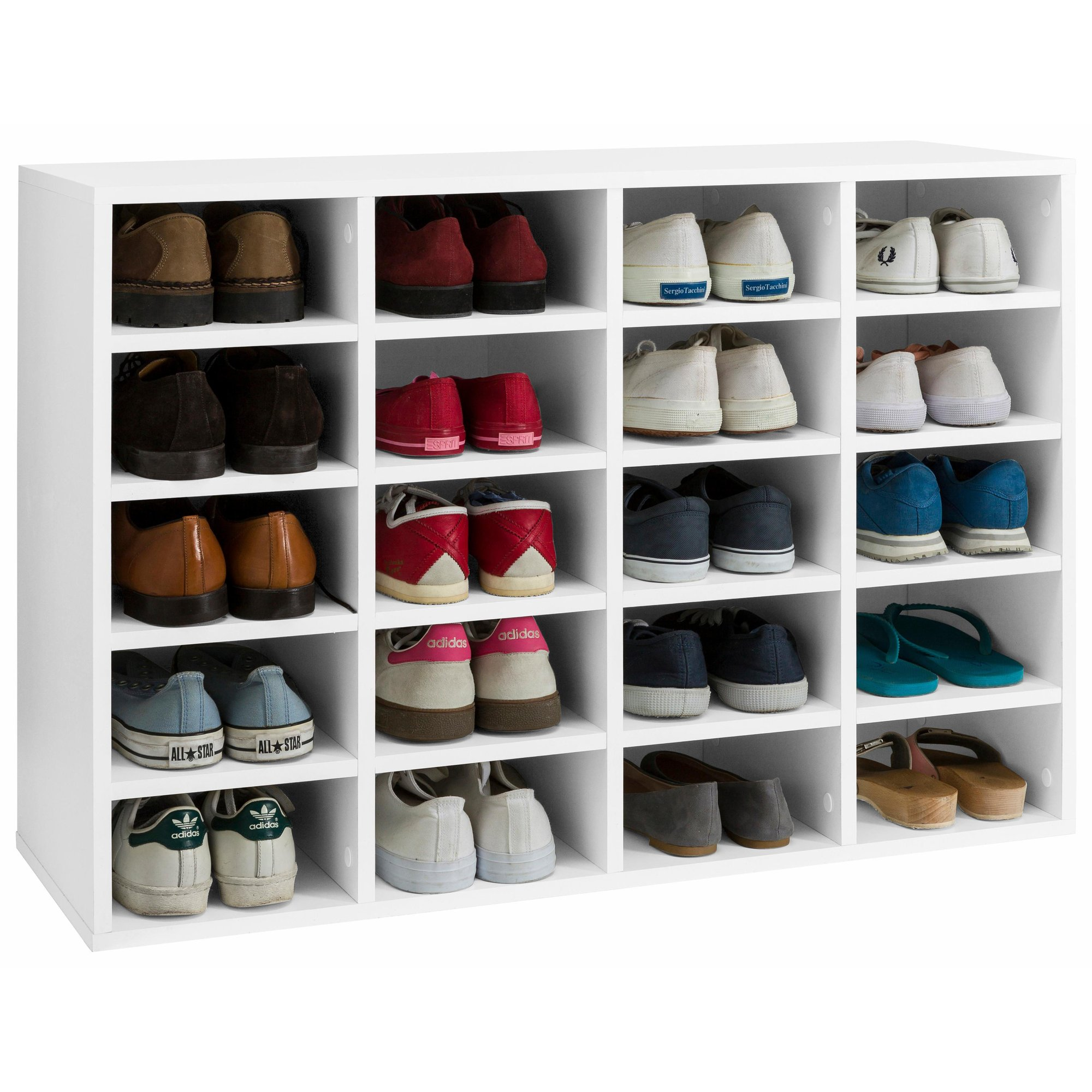 soldes 30 sur le meuble tag re range chaussures 20 compartiments lady 3 suisses. Black Bedroom Furniture Sets. Home Design Ideas