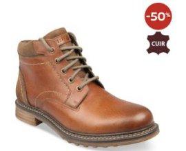 Chaussea: -50% sur ces bottines marron Cape Mountain en cuir pour Homme