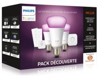 Boulanger: Pack Philips E27 White & Colors + détecteur + variateurs à 164,99€