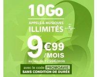 La Poste Mobile: Forfait mobile appels, SMS et MMS illimités + 10 Go d'Internet à 9,99€ par mois à vie