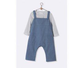 Cyrillus: T-shirt et salopette bébé rayé & bleu pétrole à 15,96€ au lieu de 39,90€