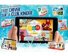 Kinder: 410 paquets de Kinder et 20 abonnements d'1 an à l'application Bayam à gagner