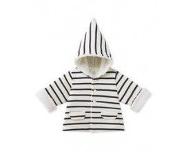 Petit Bateau: Veste à capuche bébé mixte rayée à 22,50€ au lieu de 45€