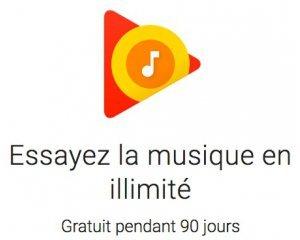 Google Play Store: 90 jours de musique gratuite illimitée Google Play Musique
