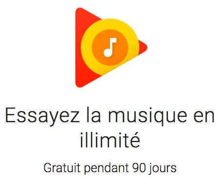Code promo Google Play Store : 90 jours de musique gratuite illimitée Google Play Musique