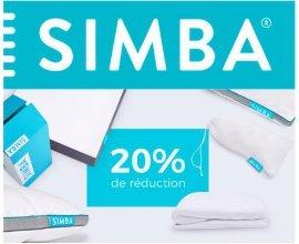 Simba Matelas: 20% de remise sur tous les produits (matelas, oreillers et sommiers)