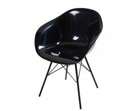 Maisons du Monde: Fauteuil noir et pieds en métal noir à 62,95€
