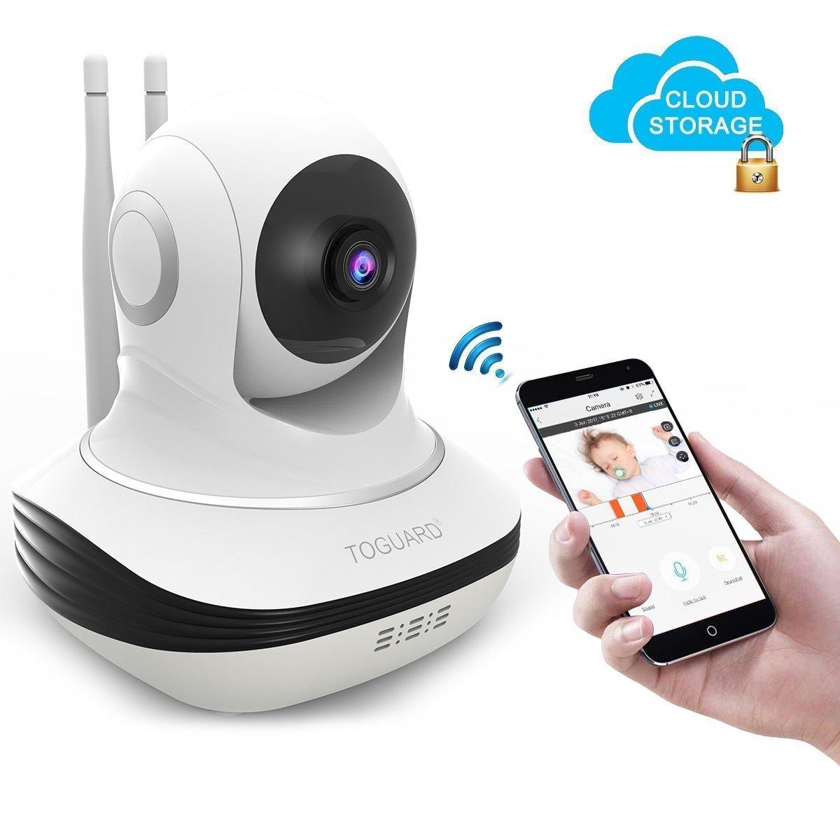 Code promo Amazon : TOGUARD Caméra IP Caméra de Sécurité WiFi Avec Amazon Stockage Cloud  à 30,79€ au lieu de 99,99€