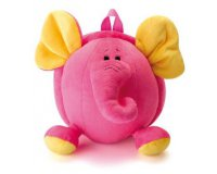 Excédence: Sac à dos peluche éléphant rose à 2,54€ au lieu de 9,95€