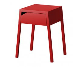 IKEA: Table de chevet rouge Selje à 29€ au lieu de 35€