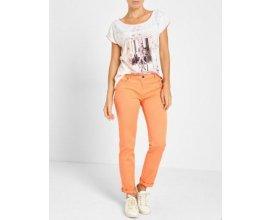 Jacqueline Riu: Pantalon 7/8 ème uni orange à -62,5%