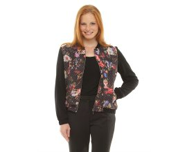BALSAMIK: Blouson léger zippé devant fleuri - imprimé fleurs à -70%