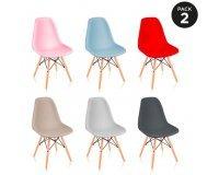 eBay: Pack 2 chaises de salle a manger de design nordique McHaus à 44,99€ livraison comprise