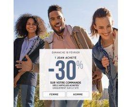 Bonobo Jeans: 1 jean acheté = -30% sur votre commande de 2 articles minimum