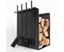 Delamaison: Valet de cheminée range bûches Gary à 139€ au lieu de 175€
