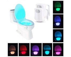 GearBest: LED Motion Sensing toilette bowl light 8 couleurs 2pcs - blanc à 9,99€ au lieu de 11,84€