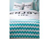 Kiabi: Parure de lit imprimé 'Enjoy Life' à 22,40€ au lieu de 32€
