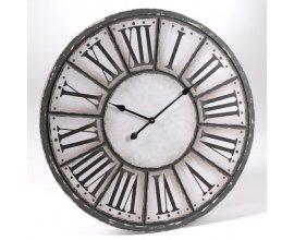 Delamaison: Horloge grise et blanche avec chiffres romains D.80cm Oscar à 63,90€ au lieu de 80,90€