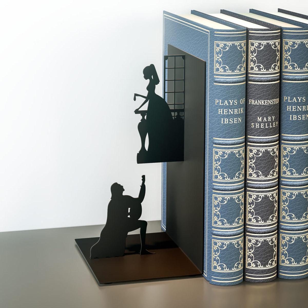 """Code promo Maginéa : Serre-Livres """"Roméo & Juliet"""" Noir à 5,47€ au lieu de 9,95€"""