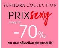 Sephora: Prix Sexy : jusqu'à - 70% sur une sélection de produits de beauté