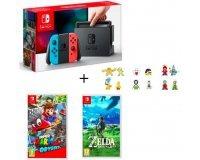 Cdiscount: Nintendo Switch + The Legend of Zelda: Breath of the Wild + Mario Odyssey + figurines à 359,99€