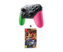 Auchan: Pack Manette Pro Switch Splatoon 2 + Sonic Forces Bonus Edition à 74,99€