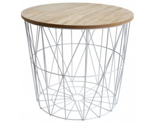 table bout de canap filaire cross blanc ou noir 9 99. Black Bedroom Furniture Sets. Home Design Ideas