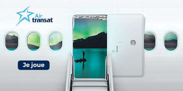 Code promo Air Transat : 2 billets d'avion A/R Marseille - Montréal