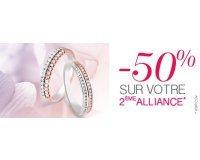 Cleor: [Offre mariage] - -50% sur votre 2ème alliance
