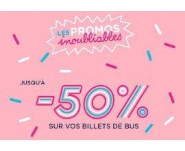 OUIBUS: Promos inoubliables: jusqu'à 50% de réduction sur une sélection de billets de bus