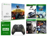 Micromania: Pack Xbox One S 1To PUBG + 4 jeux + 3 mois Xbox Live + Manette Recon Tech à 319,99€