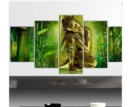 Gifi: [Promotions] - Tableau 5 panneaux Bouddha, bambou, zen au prix de 38,99€ au lieu de 53,99€